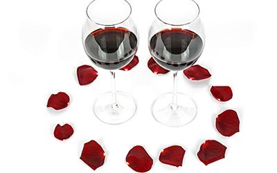 Cena para el día de los enamorados